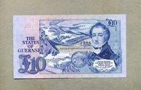 10 Pounds Nd (1980-89 ) Guernsey P 50b Major General Sir Isaac Brock Kb 1769-1812 -