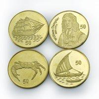 Christmas Island Australia William Dampier ship sailboat crab set 4 coins 2016