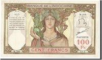 100 Francs 1961-1965 Tahiti Banknote, Undated, Km:14d