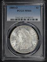 1885-O $1 MS64 PCGS