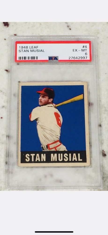 1948 Leaf Rookie Card 4 Stan Musial Baseball Icon Psa 6 Sp Rc