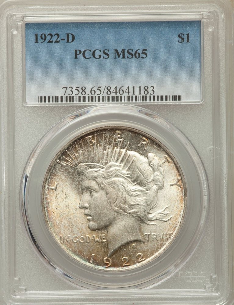 PCGS MS65 1923 US Peace Silver Dollar $1