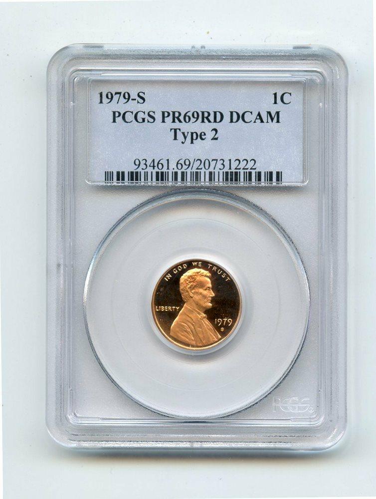 PCGS Type 2 PR69RD DCAM 1979-S Lincoln Cent