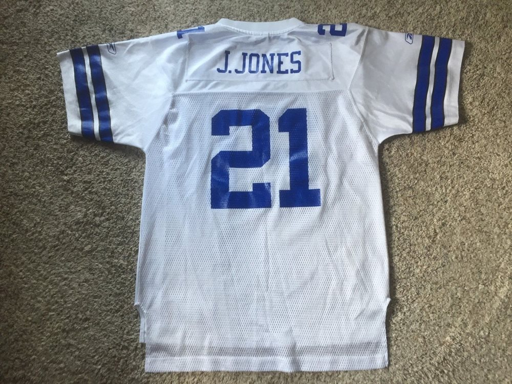 info for 63a89 6c296 DALLAS COWBOYS Football JULIUS JONES #21 Replica REEBOK Jersey Youth Sz XL  NFL