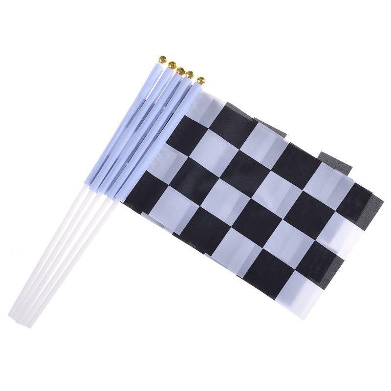5 pcs mini race flages waving cheer signal check flag h
