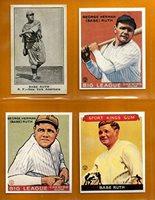 Babe Ruth New York Yankees Baseball Card Lot 4 1921 American Caramel Reprint 1933 Goudey Reprint 1933 Goudey Sport Kings Reprint 1933 Goudey Reprint