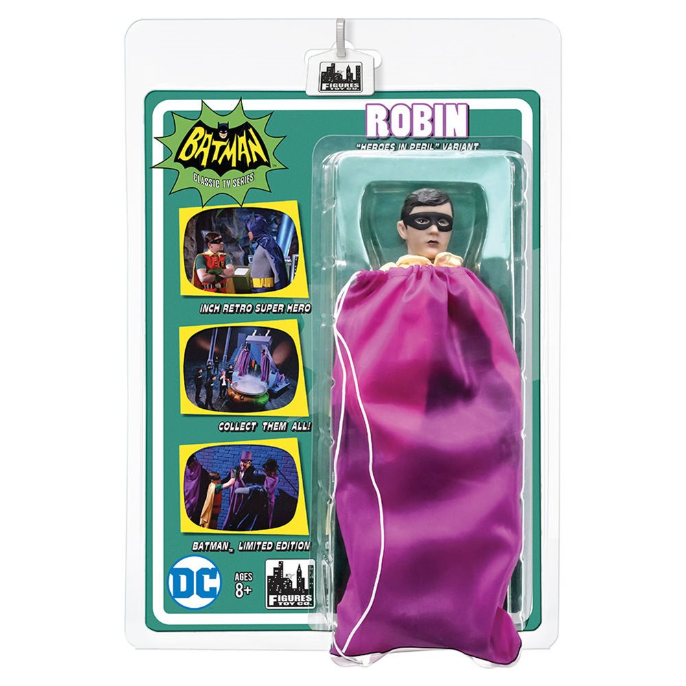 Batman 66 Classic TV Show Retro Style 8 Inch Figures Series 3 Rem. Mask Robin