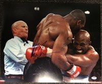 Mike Tyson Signed 16x20 Photo Autographed COA vs Evander Holyfield - PSA/DNA Certified - Autographed Boxing Photos