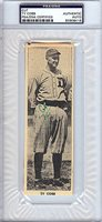 Ty Cobb Autographed Signed 2x6 Newspaper Page Photograph Detroit Tigers - PSA/DNA CertifiedCUSTOM FRAME YOUR JERSEY