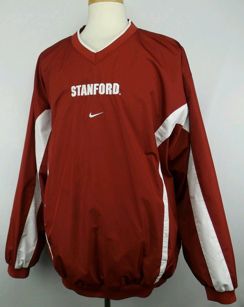 35239325fd3d Vintage Nike Team NCAA Stanford Pullover Jacket Size Ad