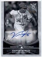 2018 Topps Big League Rookie Republic Autographs Black White Victor Robles /25