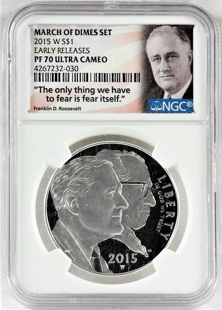 2019 S SILVER Roosevelt Dime  NGC Early Releases Proof 70 U.C