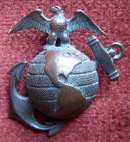 Stunning Pre-WWI BB&B Bronze US Marine Corps Officer Undress Collar EGA