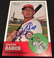 8d011aae394 Wilson Ramos Nationals Signed Auto Autographed 2012 Topps Heritage Card  94  ~COA