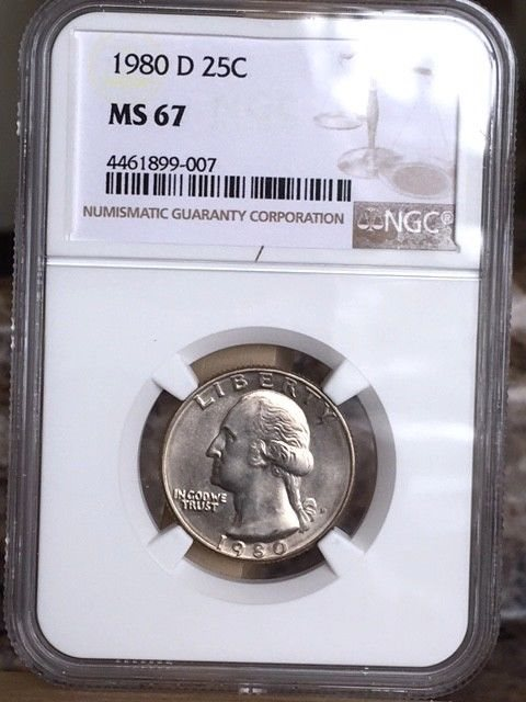 1980-D Washington Quarter NGC MS 67 * Price Guide $650