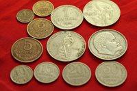 UNC Russia USSR last set of 7 coins 1 2 3 5 10 15 20 kopeek 1987-1991