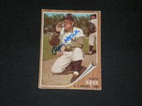 RALPH HOUK 1962 TOPPS SIGNED AUTOGRAPHED CARD #88 YANKEES DEC.
