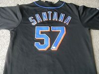 differently c3e1d 11efe JOHAN SANTANA Autographed New York Mets jersey JSA COA and HOLOGRAM