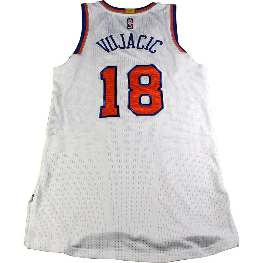 innovative design df937 fd2fd Sasha Vujacic New York Knicks 2016-17 Game Used #18 White Jersey (3/5/2017  vs. Golden State Warriors)(L)