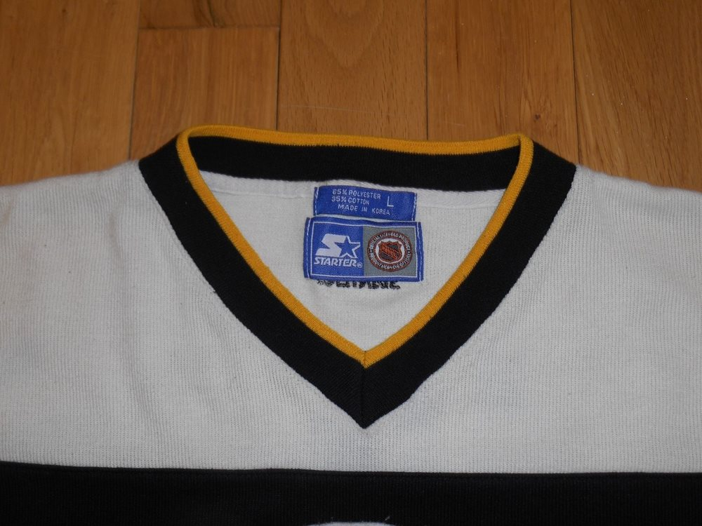 Vintage 90s Starter BOSTON BRUINS Mens NHL Stitched Tea 87aad9843