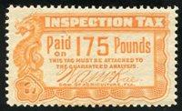 SRS FL FE9 1912 175 lbs. orange mint, F-VF