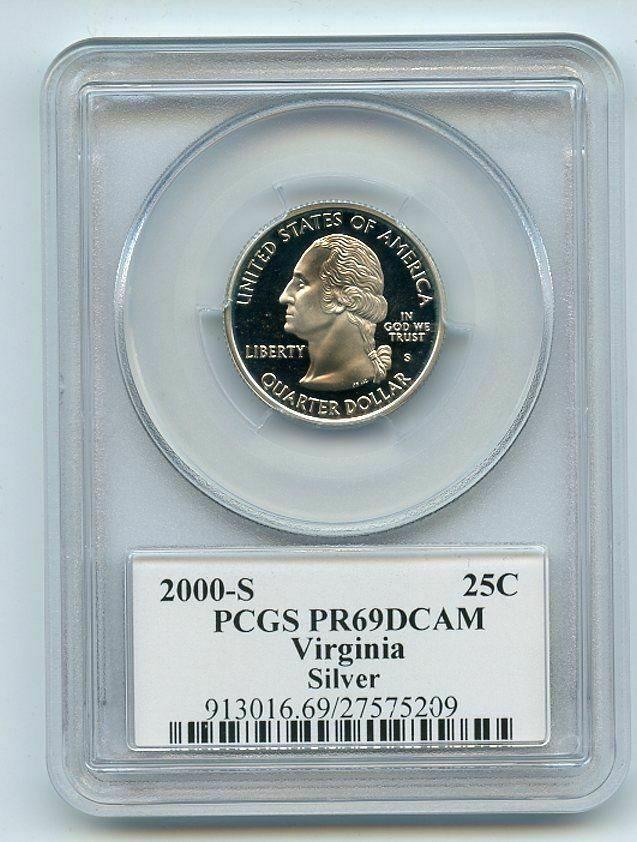 2000-S PCGS PR69DCAM Statehood Quarter SET of 5