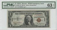1935 A $1 Hawaii WWII Emergency Issue PMG Choice Unc 63 EPQ