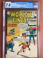 World's Finest 105 CGC 7.0 OW/W Batman Superman SWEET Rare
