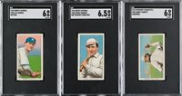 1909-1911 T206 White Border SGC EX/NM 6 Trio