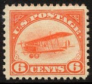 US C1 Orange Biplane