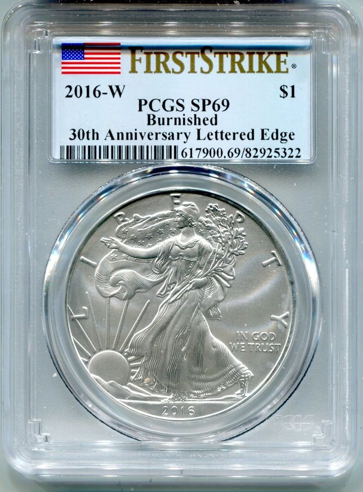 PCGS SP69 First Strike 2016-W American Silver Eagle Burnished