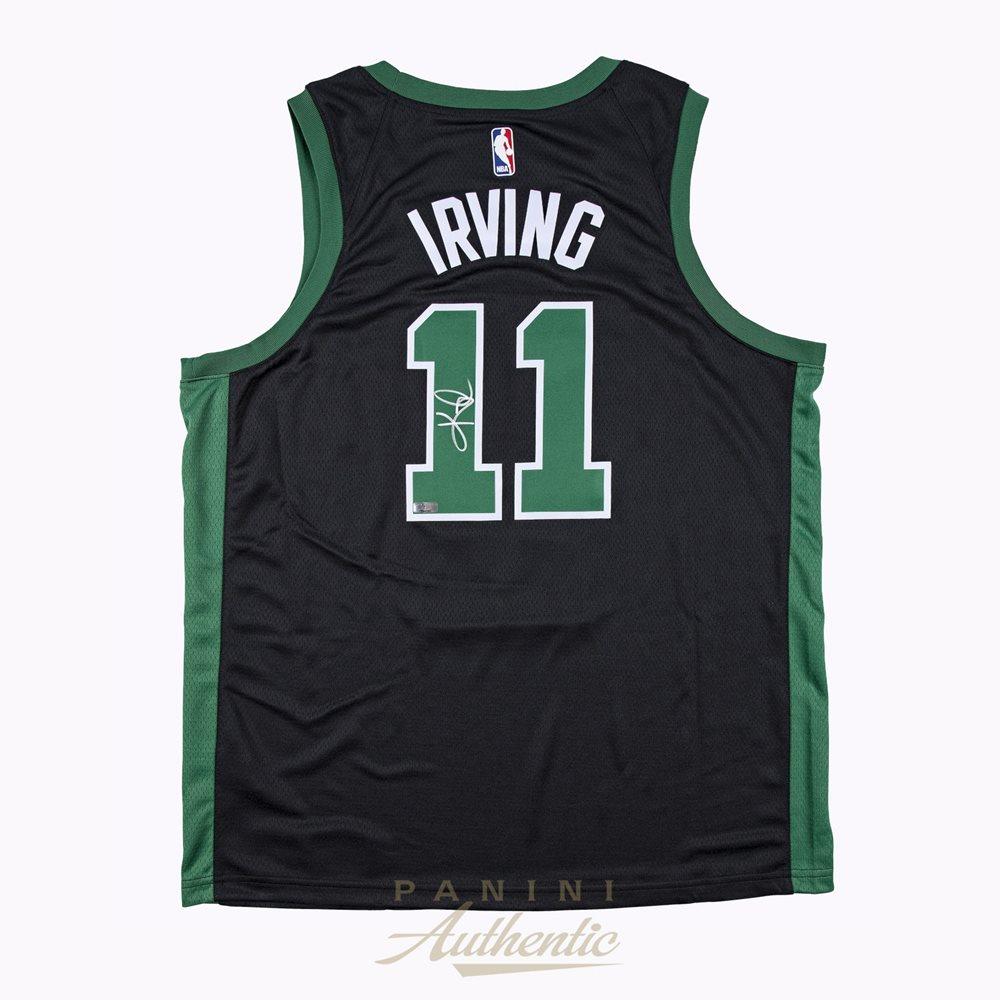 premium selection 3d059 fec11 Kyrie Irving Autographed Boston Celtics Black Nike Swingman Jersey ~Open  Edition Item~