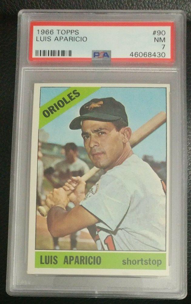 LUIS APARICIO 1966 Topps #90 Baseball Card Baltimore Orioles