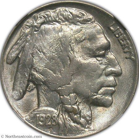 1928 Buffalo Nickel NGC MS64 Buffalo Nickel