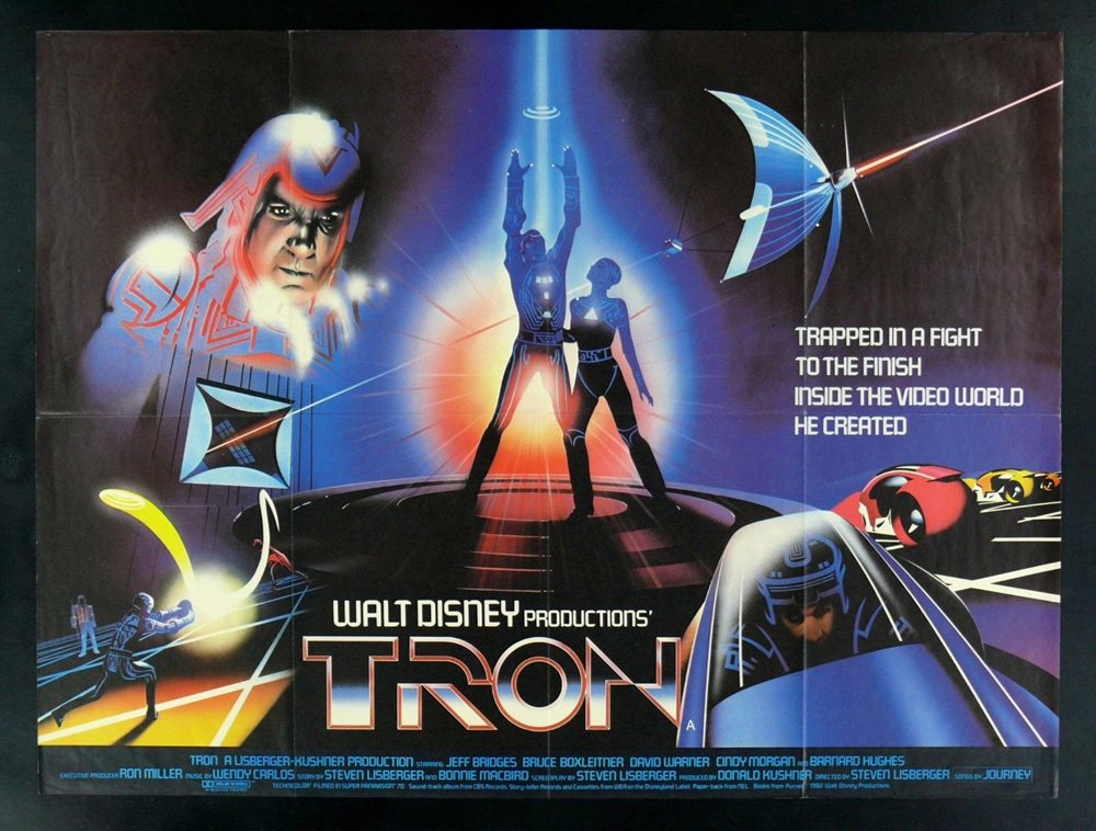 TRON CineMasterpieces BRITISH QUAD ORIGINAL MOVIE POS