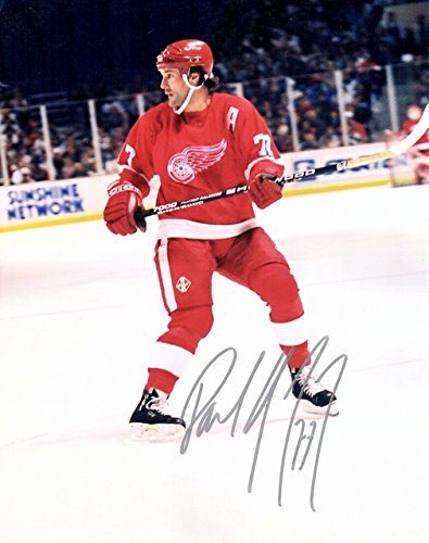 PAUL COFFEY Detroit Redwings  Autographed 8x10 photo