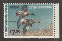 KAPPYSSTAMPS KS2707 USA BOB FEDERAL DUCK SC# RW47 MINT NEVER HINGED RETAIL $30