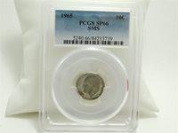 1965 SP6610C PCGS Roosevelt Dime Special Mint Set SMS Certified Unc MC0960
