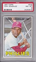 1967 Topps #548 Tony Gonzalez PSA 8 NM/MT Philadelphia Phillies High Number